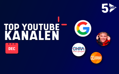 Leaderboard YouTube Nederland – december